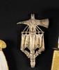HACHE D'HONNEUR. En argent, marquée : «Le 1er consul au Cen J. Evrard aide canonnier - Combat naval d'Algesiras Vendre an X». B.E. Reproduction.