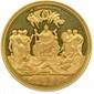Médaille en or à l'effigie de la reine VICTORIA frappée pour le jubilé de 1887.  Elle est due aux graveurs Boem et Leigton. 944 exemplaires ont été frappés en or.  Ecrin (Ø 59mm , 89,50g) Flan bruni. F.D.C.