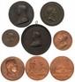 Lot de huit médailles en bronze et en cuivre à l'effigie de NAPOLÉON Ier.   Très beaux. T.B. Beaux.  150/200€