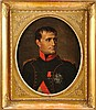 Martin DROLLING (1752-1817) Ecole de « Portrait en buste de Napoléon 1er en uniforme des chasseurs à cheval de la Garde impériale » Fin 1803 début 1804 Huile sur toile (Petites craquelures et repeint sur la grande plaque de la Légion d'Honneur) 60 x