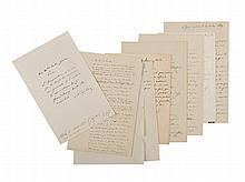 NAPOLÉON III. Ensemble de 8 lettres et pièces. 1848-1870 et s.d. - Dépêche autographe signée « Napoleon » au général Pierre-Charles Dejean. Metz, 1er août 1870. « l'ImpérAtrIce N'AVAIt pAs le droIt de Nommer uN géNérAl à l'Armée. la nomination du gl