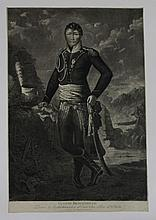 NODET, D'APRES.  « Eugène Beauharnais, Prince Archichancelier d'Etat, Vice Roi d'Italie. » Grande gravure par Chapuy.  36 x 55 cm. A.B.E.