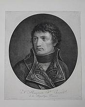 BACLER D'ALBE, D'APRES.  « N. Bonaparte Premier Consul. »  Gravure par Mercoli Fils  52 x 42 cm.  B.E.