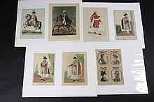 CONSULS ET FAMILLE IMPERIALE Ensemble de sept gravures aquarellées. « Mr Cambacérès », « S.A.S. Le Brun », « Son Altesse Imple le Prince Eugêne Vice Roi d'Italie. », « Louis Napoléon Roi de Hollande », « Son Altesse le Prince Joseph », « Son Altesse