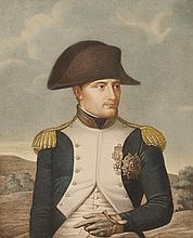 LEFEVRE, D'APRES.  « Napoléon le Grand, Empereur. » Gravure aquarellée par Ruotte.  44 x 33 cm.  B.E.