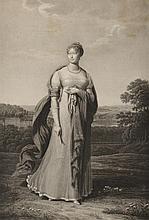 GODEFROY, D'APRÈS. « L'Impératrice Marie Louise. »  Grande gravure par Godefroy en 1810.  67 x 50 cm.  A.B.E. (Petites déchirures en marge)