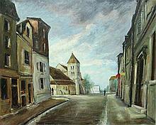 JEAN PUY (1876-1960)  Orange à Saint Maur des Fossés Huile sur isorel signé