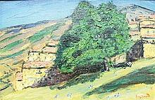 RENE SEYSSAUD (1867-1952) Le marronnier à Amel Huile sur toile Signée en ba
