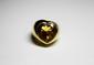 FRED BAGUE en or jaune ornée d'une importante citrine de taille coeur en serti clos. Poids brut: 13,7 g  TDD: 47,5
