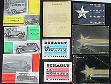 Catalogue RENAULT la Monasix 6 Cylindres - Catalogue 1932 les nouvelles Stella RENAULT - Catalogue RENAULT Reinastella 8 Cylindres Nervastella 8 Cylindres - Catalogue RENAULT 1931 Monastella, Vivastella , Nervastella , Reinastella - RENAULT la