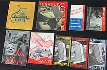 Catalogue RENAULT de 1935 - Catalogue RENAULT 8 Cylindres - Catalogue RENAULT 6 Cylindres - Catalogue de présentation « Joie de vivre » - RENAULT Air Sport - Catalogue RENAULT de la Vivaquatre, Celtaquatre x 2 et Primaquatre - Menu du déjeuner offert