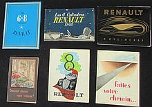 - Catalogue RENAULT 1937, les 6 et 8 Cylindres - RENAULT 1936, les 8 Cylindres  - RENAULT 1938 les 6 Cylindres  - RENAULT 1939, les 6 Cylindres - Brochure de l'usine : comment choisir votre voiture ?  - Brochure de l'usine : faites votre Chemin...
