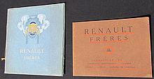- Catalogue RENAULT Frères 1909 (deux Exemplaires).