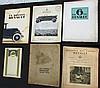 - Catalogue RENAULT Monasix - Catalogue la 6 CV RENAULT (deux exemplaires) - Catalogue RENAULT 1920  - Les usines RENAULT 1899- 1919  - Le Bulletin des usines RENAULT du 1 er Janvier 1920