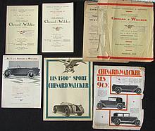 - CHENARD & WALKER Tarifs au 13 JUIN 1927 -Au 6 OCTOBRE 1927 Plaquette de présentation de la 10 CV ,7 CV ,11CV -Les 1500 Sport CHENARD & WALKER -Les 9 CV CHENARD & WALKER -CHENARD & WALKER Véhicules commerciaux et Industriels.