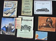 - Catalogue PEUGEOT 1933 : avec elle et sans elle - Catalogue PEUGEOT 1933 : PEUGEOT véhicule utilitaire -Plaquette de présentation PEUGEOT 1000 à 1200 KG 1933 - 1933 PEUGEOT voiture de Tourisme -PEUGEOT présente la nouvelle 301