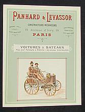 - COLLECTION DE L HISTORIEN LUCIEN LOREILLE (Lot 10 à 58) Très rare Catalogue PANHARD & LEVASSOR de 1892.