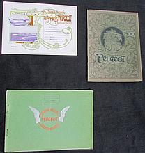 - Catalogues PEUGEOT : Catalogue vélocipèdes de 1892 - Catalogue cycles, tricycles et quadricycles  1900 - Catalogue Voitures 1902