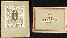- The 25-30 HP ROLLS-ROYCE The « Wraith » Rare Catalogue de 1938 -ROLLS ROYCE SILVER WRAITH 1950.