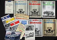 - Les modèles CHENARD & WALKER 1929 -Les 7 CV -Les 10 CV  -Les 1500 Sport  -Les CHENARD & WALKER 1930 -La 9CV 10 CV 14 CV -Modèles CHENARD & WALKER 1930 -Les 10 CV 16 CV  -Un début sensationnel  -Véhicules industriels de 500 KG  à 30 T