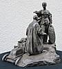 COLLECTION DU BARON PETIET (Lot 1 à 9)    BRONZE représentant « le couronnement de l'Automobiliste ». Signé E. PINCHON (Fondeur Alexis RUDIER Paris).