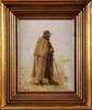 Marie François FIRMIN-GIRARD (1838-1921)  Le Pâtre Huile sur toile 35,5 x 27,5 cm (14 x 10,8 in.)  Oil on canvas
