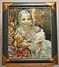 BOUIMISTRE  Jeune femme Huile 65x54 cm