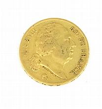 LOUIS XVIII (1755-1824) 20 francs or 1824