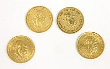WILLEM II (1817-1890) 3 pièces or 10 Gulden 1875 1 pièce or 10 Gulden 1876 Poids total :  9 g