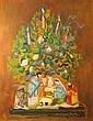 Suzanne TOURTE (1904-1979) Nativité Gouache sur