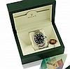 ROLEX MONTRE Submariner date lunette verte édition pour le 50eme anniversaire de la Submariner en acier sur bracelet oyster acier, cadran noir laqué, index et aiguilles luminova surdimenssionés, verre saphir, couronne de remontoir signée et fond
