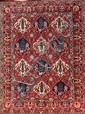 BAKTIAR-SEMNAN (Iran) à décor floral polychrome vers 1970 207 x 150 cm