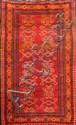 KAZAZK (Caucase) sur fond rouge rubis à décor de cornes de bélier Début XXème siècle 175 x 103 cm