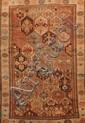 Ancien KURDE-IRANIEN à semis de caissons géométriques 1ère partie du XXème siècle 220 x 137 cm