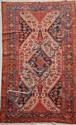 Original et ancien MELAYER (Perse) fond beige à décor de cyprès et fleurs en polychromie 1ère partie du XXème siècle 248 x 137 cm