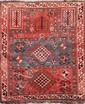 Ancien KAZAK (Caucase) forme prière à crabes et sabliers Début XXème siècle 125 x 103 cm
