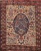 AFCHAR (Iran) sur fond beige à décor floral Vers 1960 175 x 135 cm