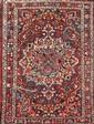 BAKTIAR (Iran) à large médaillon central floral Vers 1965 198 x 130 cm