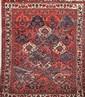 BAKTIAR (Iran) à semis de caissons floraux Vers 1960 207 x 168 cm