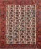 Original KIRMAN-AFCHAR (Iran) fond ivoire à décor européen rappelant la Savonnerie française Vers 1940 185b x 148 cm