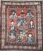 TAPIS chirvan (Caucase) en laine à décor de la famille impériale russe Vers 1870/1880