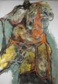 LYDIE ARICKX (né en 1954) Abandon H uile sur toile 31 x 93 cm
