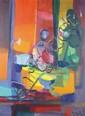 Marcel MOULY (1918-2008) Le déjeuner Huile sur toile sbd datée 79 62 x 46 cm