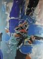 Jean HUGON (1919-1990) La calanque Huile sur toile et datée 96 100 x 73 cm