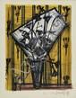 BUFFET Bernard, 1928-1999 Bouquet de fleurs lithographie en couleurs, bon à tirer (petites rousseurs en marge), signée en bas à droite avec l'inscription: Bon à Tirer, 50x38 cm.