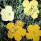 Flowers (jaune & vert & noir) Sérigraphie en couleur Edition Sundy B Morning 91 x 91 cm
