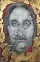 Paul RAMBIE (né-1919) Tête de Christ Huile sur toile sbd 33 x 22 cm