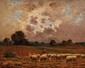 Paul CHAIGNEAU (1879-1938)  Moutons aux pâturages Huile sur toile Signée en bas à gauche 33 x 41 cm (13 x 16,1 in.)  Oil on canvas Signed lower left
