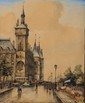 FRANK-WILL (1900-1951)  Le quai aux fleurs Aquarelle, lavis et crayon Signé en bas à droite Situé à Paris en bas à gauche 53,5 x 44 cm (à vue) (21,1 x 17,3 in.)  Watercolour, pencil and wash Signed lower right Located in Paris lower left