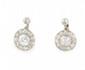 PAIRE DE PENDANTS D'OREILLES en or jaune et platine, ornée de diamants de taille ancienne serti clos. Poids brut : 4,4 g Hauteur : 2 cm  A pair of diamond and yellow gold earrings